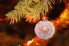 рождество bauble глянцеватое Стоковая Фотография RF