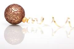 рождество bauble коричневое Стоковые Фото