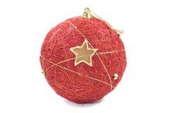 рождество bauble над белизной Стоковое Изображение