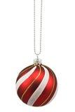 рождество bauble повиснуло striped Стоковые Изображения RF
