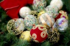 рождество baubles ассортимента Стоковые Изображения