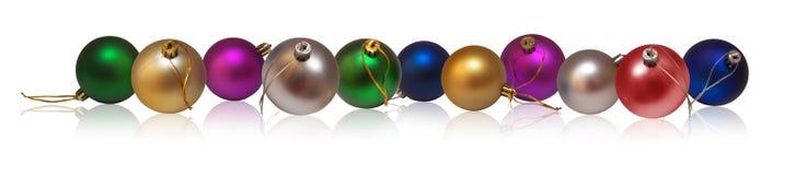 рождество baubles горизонтальное Стоковое Изображение RF