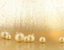 рождество baubles золотистое Стоковое Изображение