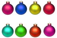 рождество baubles изолировало комплект Стоковые Изображения RF