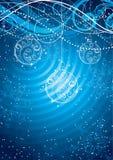 рождество baubles предпосылки Стоковая Фотография