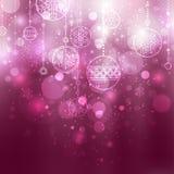 рождество baubles предпосылки Стоковые Фото