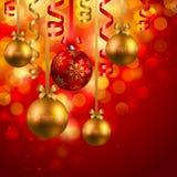 рождество baubles предпосылки Стоковые Фотографии RF
