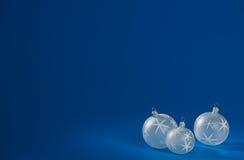 рождество baubles ровное Стоковые Изображения RF