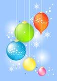 рождество baubles Иллюстрация вектора