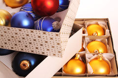рождество baubles стоковое изображение