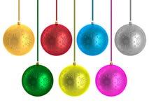 рождество baubles multicolor бесплатная иллюстрация