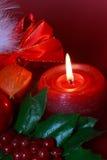 рождество bu украсило венок зеленого падуба красный Стоковое Изображение RF