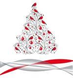 рождество bullfinch шариков украсило красный вал Стоковая Фотография