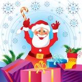 рождество claus santa карточки Стоковые Фото