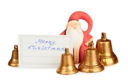 рождество claus santa колоколов Стоковые Изображения RF