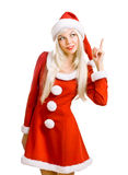рождество claus santa красотки Стоковое фото RF