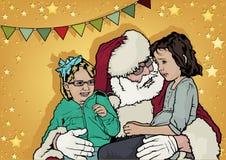рождество claus santa предпосылки Стоковые Фотографии RF