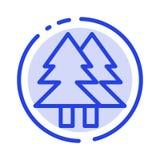 Рождество, Eco, окружающая среда, зеленый цвет, веселая линия значок голубой пунктирной линии иллюстрация штока