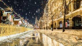 рождество moscow красный квадрат Стоковое Изображение