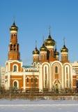 рождество omsk Россия собора Стоковые Фото