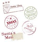 рождество postmarks вектор Стоковые Изображения RF