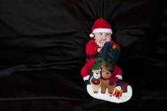рождество santa младенца стоковые фото