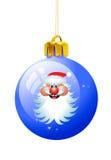рождество santa шарика Стоковое фото RF