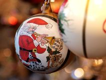 рождество santa шарика Стоковое Фото
