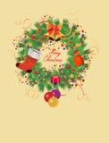Рождество Wreath02 Иллюстрация штока
