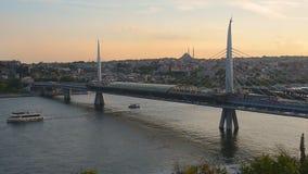 Рожок моста золотой сток-видео