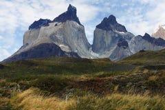 Рожок Paine в Torres Del Paine Стоковое Изображение