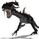 рожочки дракона гигантские ужаша крыла Стоковое Изображение
