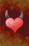 рожочки сердца Стоковые Изображения