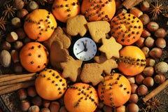 Рожденственская ночь и Новый Год на полночи Стоковая Фотография