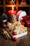 Рождества жизнь все еще с печеньями Стоковое Изображение RF