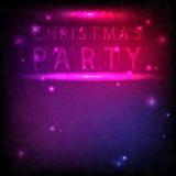 Рождественская вечеринка надписи в неоновом стиле Стоковые Фото
