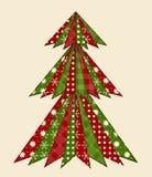 Рождественская елка на scrapbooking 1 Стоковые Фотографии RF