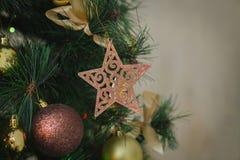 рождественская елка ветви шариков Стоковое Изображение