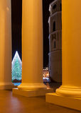 Рождественская елка в квадрате собора Вильнюса Стоковые Фото