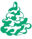 Рождественская елка в снеге 2 Стоковые Фотографии RF