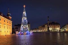 Рождественская елка в старой Варшаве стоковое изображение