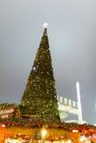 Рождественская елка в стране чудес зимы ` s Гайд-парка, Лондоне Стоковая Фотография
