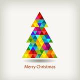 Рождественская елка в цветах радуги стоковая фотография rf