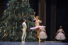 Рождественская елка в Щелкунчике балета предпосылки- Стоковые Изображения RF