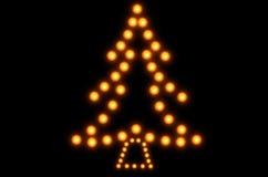 Рождественская елка горящих свечей Стоковое фото RF