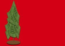 Рождественская елка денег Стоковые Фотографии RF