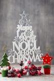 Рождественская елка, желание Noel, спрус писем стоковое фото rf