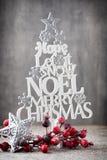 Рождественская елка, желание Noel, спрус писем стоковая фотография rf