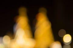 Рождественская елка и праздничное освещение bokeh Стоковая Фотография