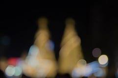 Рождественская елка и праздничное освещение bokeh Стоковое фото RF